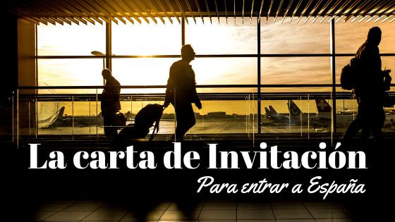 (Español) La carta de invitación para entrar a España